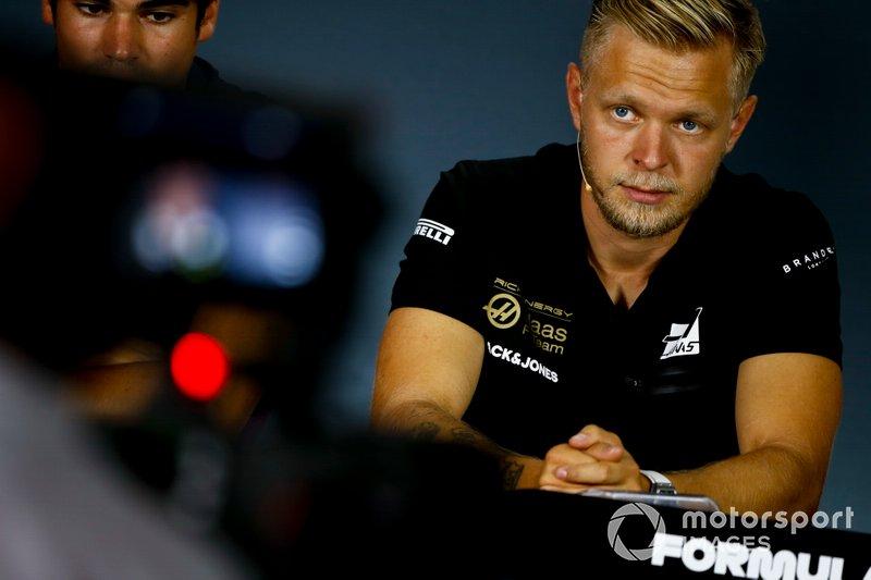 Kevin Magnussen, Haas F1 en la conferencia de prensa