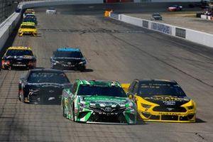 Kyle Busch, Joe Gibbs Racing, Toyota Camry M&M's Interstate Batteries and Brad Keselowski, Team Penske, Ford Mustang Alliance Truck Parts