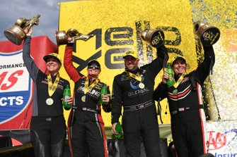 Winners Karen Stoffer, Erica Enders, Shawn Langdon, Billy Torrence