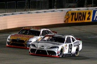 Brandon Jones, Joe Gibbs Racing, Toyota Supra Freightliner and Cole Custer, Stewart-Haas Racing, Ford Mustang GoBowling