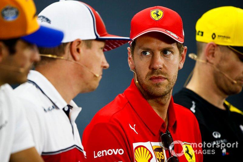 Sebastian Vettel, Ferrari ve Kimi Raikkonen, Alfa Romeo Racing