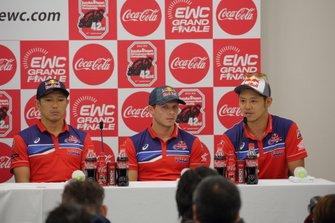 高橋巧、清成龍一、ステファン・ブラドル(Red Bull Honda)