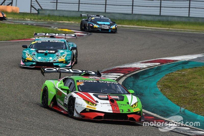#68 Gama Racing Lamborghini Huracan: Chris van der Drift and Evan Chen