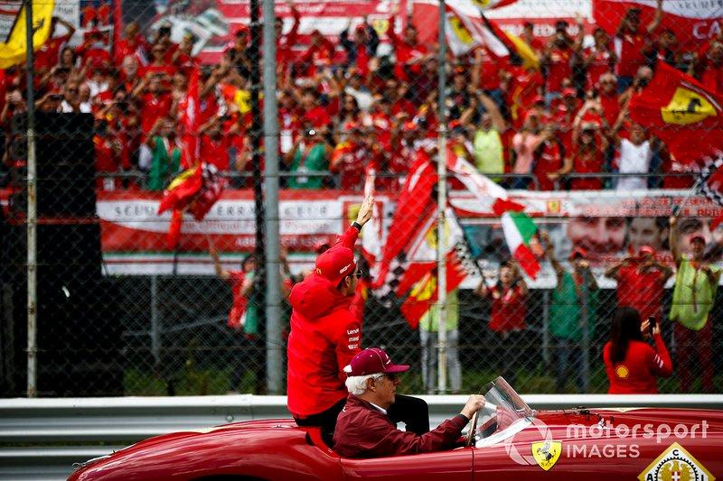 Charles Leclerc, Ferrari alla parata dei piloti