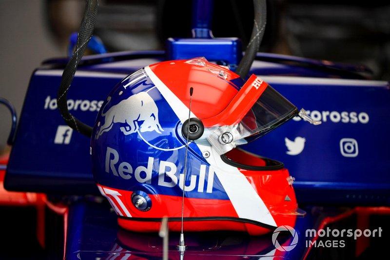 Il casco di Daniil Kvyat, Toro Rosso