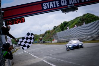 Race winner #25 Sainteloc Racing Audi R8 LMS GT3: Simon Gachet, Christopher Haase