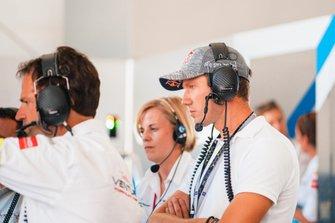 Il campione del World Rally Sébastien Ogier con Susie Wolff, Team Principal, Venturi Formula E