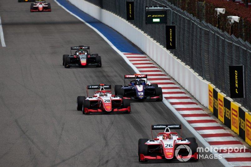 Marcus Armstrong, PREMA Racing Robert Shwartzman, PREMA Racing and Niko Kari, Trident