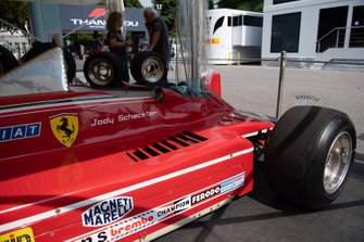 Car of Jody Scheckter, Ferrari 312T in the paddock
