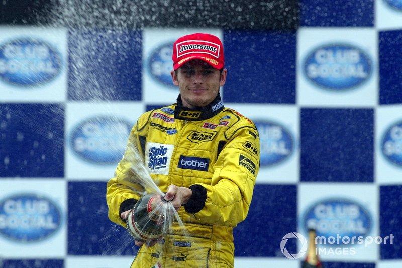 Podium : Giancarlo Fisichella, Jordan fête son podium