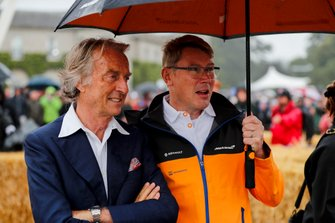 Luca Cordero di Montezemolo and Mika Häkkinen at the Michael Schumacher Celebration