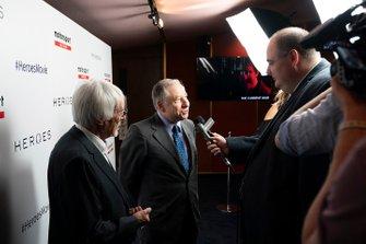 Jean Todt, presidente de la FIA, Bernie Ecclestone