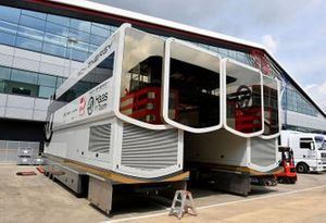 Haas F1 set up their engineers office