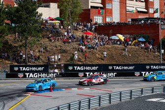 Yvan Muller, Cyan Racing Lynk & Co 03 TCR, Attila Tassi, KCMG Honda Civic Type R TCR