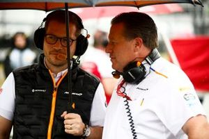 Andreas Seidl, Team Principal, McLaren, and Zak Brown, Executive Director, McLaren