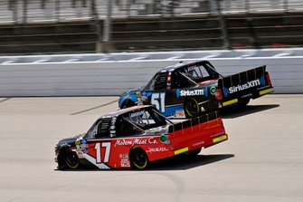 Tyler Ankrum, DGR-Crosley, Toyota Tundra May's Hawaii and Christian Eckes, Kyle Busch Motorsports, Toyota Tundra SiriusXM