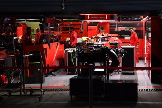 The Ferrari garage