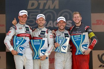 Podium: Race winner René Rast, Audi Sport Team Rosberg, second place Nico Müller, Audi Sport Team Abt Sportsline, third place Mike Rockenfeller, Audi Sport Team Phoenix