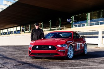 Allan Moffat with the Tickford Trans-Am Mustang