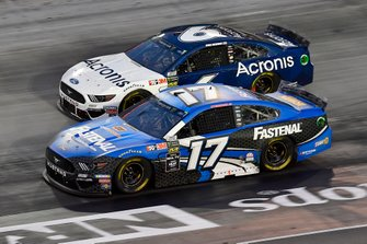 Ricky Stenhouse Jr., Roush Fenway Racing, Ford Mustang Fastenal and Ryan Newman, Roush Fenway Racing, Ford Mustang Acronis