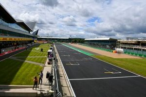 New Track surface on the start/ finish straight