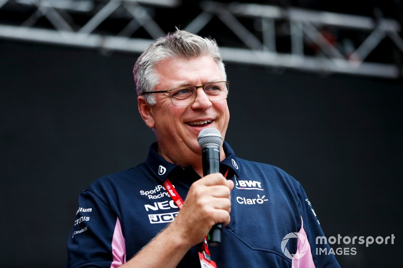 Otmar Szafnauer, Team Principal and CEO, Racing Point, sul palco