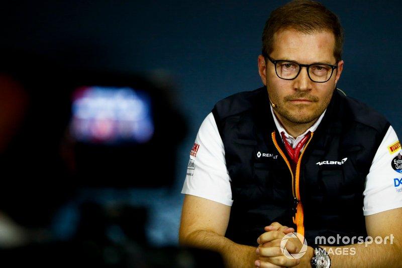 Andreas Seidl, Team Principal, McLaren, alla conferenza stampa