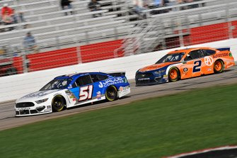 Cody Ware, Petty Ware Racing, Chevrolet Camaro and Brad Keselowski, Team Penske, Ford Mustang