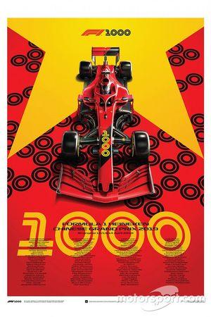 Commemorative F1 1000th GP Poster
