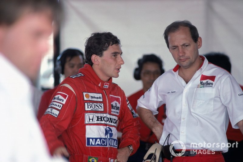 Ayrton Senna and Ron Dennis, McLaren