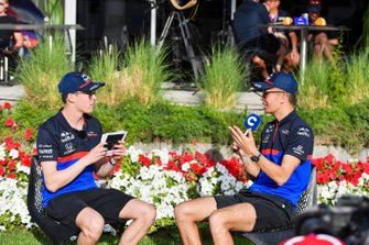 Daniil Kvyat, Toro Rosso and Alexander Albon, Toro Rosso