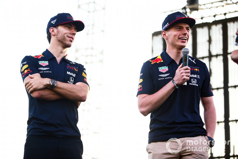 Pierre Gasly, Red Bull Racing and Max Verstappen, Red Bull Racing