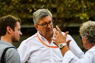 Dr. Carsten Tilke, Ross Brawn, Managing Director of Motorsports, FOM, en Hermann Tilke