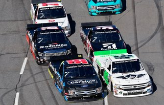 Ben Rhodes, ThorSport Racing, Ford F-150 Carolina Nut and Ross Chastain, Niece Motorsports, Chevrolet Silverado TruNorth/Paul Jr. Designs