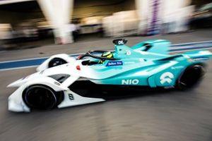 Tom Dillmann, NIO Formula E Team, NIO Sport 004, drives down the pit lane