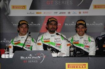 Press Conference, #54 Dinamic Motorsport Porsche 911 GT3 R: Andrea Rizzoli, Klaus Bachler, Zaid Ashkanani