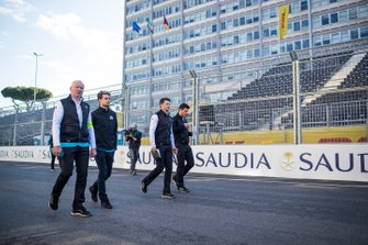 Oliver Turvey, NIO Formula E Team, on a track walk