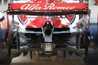 Alfa Romeo Racing C38 detalle difusor trasero
