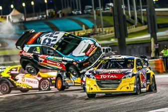 Crash: Kevin Hansen, Team Hansen MJP, Reinis Nitiss, GRX Taneco
