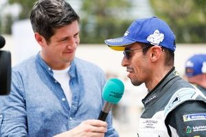 Bandar Alesayi, Saudi Racing, is interviewed by TV Presenter Vernon Kay after the race