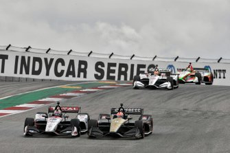 Graham Rahal, Rahal Letterman Lanigan Racing Honda, James Hinchcliffe, Arrow Schmidt Peterson Motorsports Honda