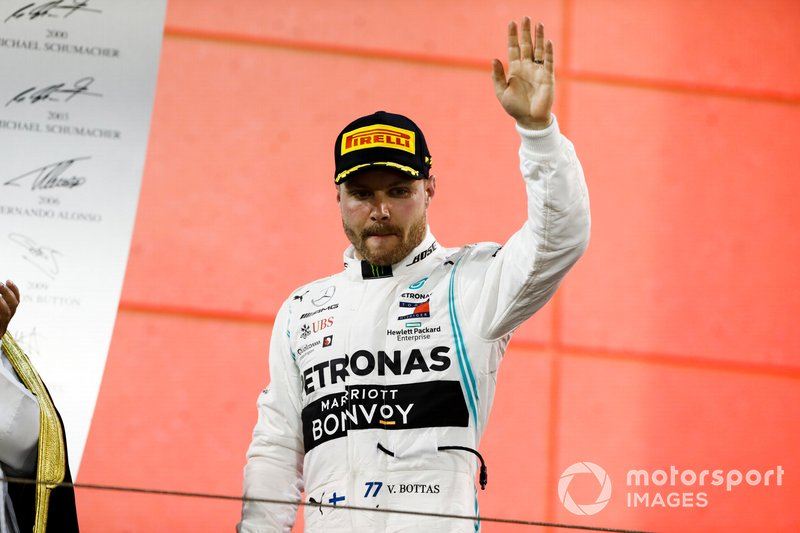 Valtteri Bottas, Mercedes AMG F1, secondo, sul podio