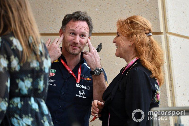 Christian Horner, team Principal de Red Bull Racing, et Sarah Ferguson