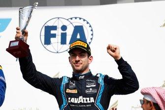 Luca Ghiotto, UNI VIRTUOSI, celebrates on the podium
