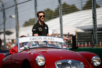 Romain Grosjean, Haas F1, in the drivers parade