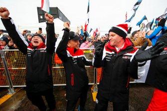 Shigeki Tomoyama, President, GAZOO Racing Company, Ott Tänak, Martin Järveoja, Toyota Gazoo Racing WRT Toyota Yaris WRC