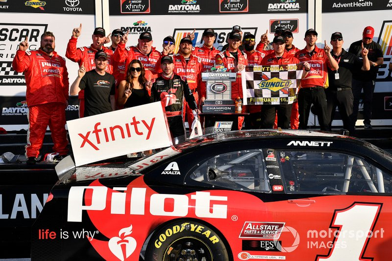 Michael Annett, JR Motorsports, Chevrolet Camaro Chevrolet Pilot Flying J / American Heart Association wins