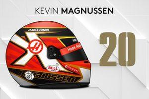 Le casque 2019 de Kevin Magnussen