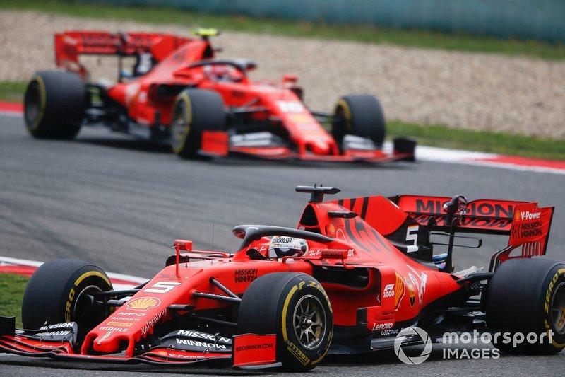 Sebastian Vettel e Charles Leclerc