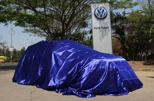 Volkswagen India track only car under covers